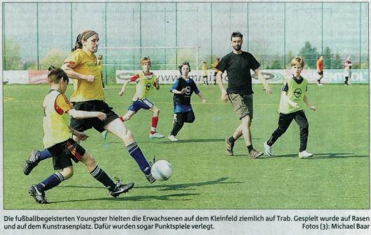 Erwachsener Fußball des großen Graslands